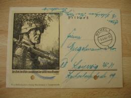 16.2 1943 Ww2 Feldpost Memel 1 3.4 44 Feldpost Entier Postal - Allemagne