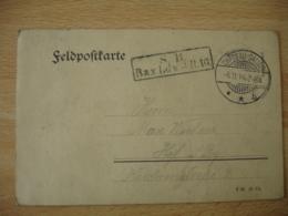Occupation Lorraine Alsace 1914 V Chateau Salins Lettre Feldpost Franchise Militaire S B Bay Ldw J R 10 - Guerre De 1914-18
