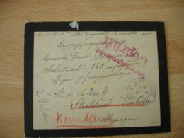 Guerre 14.18 Lettre Censure Allemande Gepruft De Port La Nouvelle A Strasbourg 27.6.15 - Guerre De 1914-18