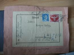 Ww 2  W  W 942 , Feldpost Päckchenadresse  Mit Zulassungsmarke Stuggart Stadt Der Auslan Deutsche - Germany