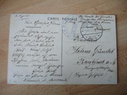 Ww 1  W  W  Kd Felpoststation  4 Militat Pass Bureau Selzaete Bureau Passeport Militaire Belgique - Deutsche Armee