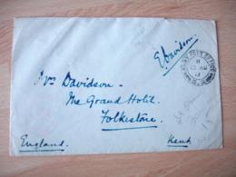 Guerre 14.18 , Army Post Ofice  62 Cachet Censure Censor  Pour Folkestone - Guerre De 1914-18