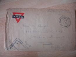 Lot De 2 Guerre 14.18 , Army Post Ofice S 100  Cachet Censure Censor  Ym C A Pour Londres - Guerre De 1914-18
