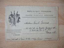 Guerre 14.18 Carte Franchise 3 Drapeaux Noir Et Blanc - Marcophilie (Lettres)