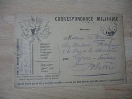 Guerre 14.18 Carte Franchise Militaire 6 Drapeaux Coin Gauche Noir Et Blanc  Tresor Et Postes 146 - Postmark Collection (Covers)
