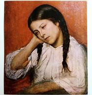 #12  Portrait Of ''Girl'' By V. Dimitrov ? - Fine Art Postcard - Peintures & Tableaux