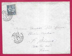E11 - France Levant P.O. Lebanon Beirut 1907 Nice Cover, Sent To Cotes Du Nord - Lebanon