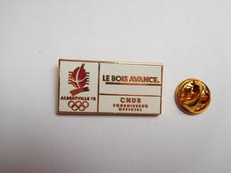 Superbe Pin's En Zamac , JO Jeux Olympiques Albertville 92 , CNDB , Le Bois Avance , Non Signé , Qualité Arthus Bertrand - Olympic Games