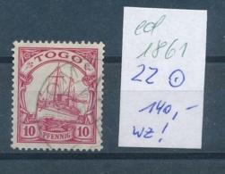 Togo-Nr. 22  O    (ed1861  ) Siehe Scan - Kolonie: Togo
