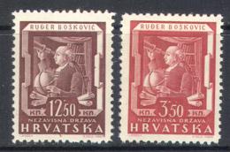 3034 Science Space Astronomy Telescope Boscovic 1943 Croatia 2v Set MNH ** - Astronomy