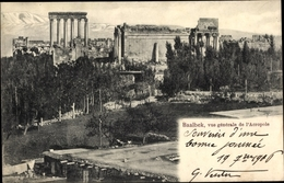 Cp Baalbek Libanon, Vue Generale De L'Acropole, Akropolis - India