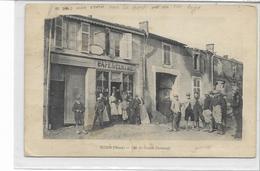 """55 RESSON . Café Du Centre """"Chaumont"""" Animé , RARE  , édit : Sans , écrite En 1916 , état Pli Au Milieu Sinon Bien , - France"""