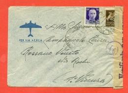 STORIA POSTALE REGNO- ANNULLO POSTA MILITARE-PM- 3/9/1943 -  CENSURE - 1900-44 Vittorio Emanuele III