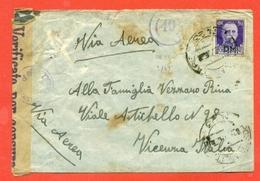 STORIA POSTALE REGNO- ANNULLO POSTA MILITARE N. 23-1943 - CENSURE - 1900-44 Vittorio Emanuele III