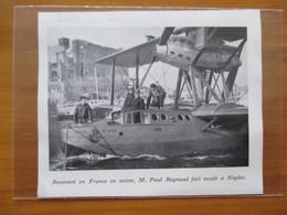 1939   NAPOLI (Naples) Escale Hydravion Français Compagnie Air Orient - Coupure De Presse Originale (encart Photo) - Documents Historiques