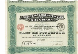 75-PETROLES DE SILVA PLANA. Part De Fondateur. 1921. - Autres