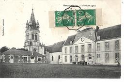 60 - BRESLE - Mairie Et Eglise  (Très Petite Animation) - France
