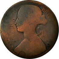 Monnaie, Grande-Bretagne, Victoria, Penny, 1863, B, Bronze, KM:749.2 - 1816-1901 : Frappes XIX° S.