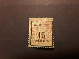 GUADELOUPE 1889 Type Alphee Dubois  Surchargé, Yv No 4, 15 C Sur 20 C Brique / Vert  Neuf * MH TB Cote 35 Euros - Guadalupe (1884-1947)