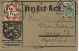 1912 Deutsches Reich   Flugpost Am Rhein  U. Am Main  Bedarf! Flugpost Karte. Frankfurt Main 14.6.12 - Luftpost