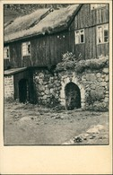 Postcard Kirkjubøur Kirkebø Wohngebäude, Holz Mit Grasdach 1915 - Féroé (Iles)