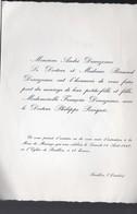 Pouillon (40 Landes) Faire Part Mariage Descazeaux / Pourquié 1967 (PPP10117) - Wedding