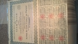 SOCIETE DES CHARBONNAGES DE NINH BINH (action De Cent Francs)) - Mines