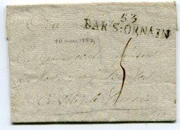MEUSE De BAR LE DUC LAC Du 10/03/1793 Avec Linéaire BAR S ORNAIN Taxée 5 Pour VITRY LE FRANCOIS - Marcophilie (Lettres)