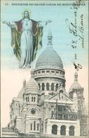 Paris Basilique Du Sacré-Cœur De Montmartre, Jesus, Gerüst 1908 - France