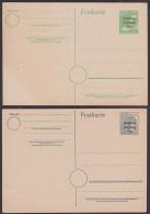 Ganzsache 10 Und 12 Pf. Mit SBZ-Aufdruck Ungebraucht - Sovjetzone