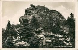 Postcard Haindorf Hejnice Wanderer Am Siechhübel 1932  - Tchéquie