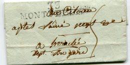 """HERAULT De MONTPELLIER LAC Du 28/11/1794 Linéaire 57x12 Taxée 5 Pour """" HERACLEE"""" - Marcophilie (Lettres)"""