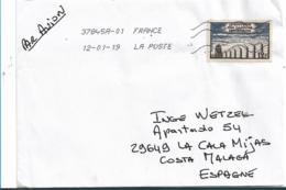 FS929 FRANKREICH - Camps De Deportation, 12 F Auf Brief 2019 Nach Spanien - Briefe U. Dokumente