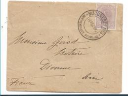 Rum112 / Rumänien, König  Karl I. 25 B Am 18.2.98 Nach Frankreich Mit Jubiläumsstempel - 1881-1918: Charles I