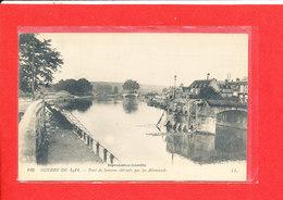 02 SOISSONS Cpa Le Pont Détruit Par Les Allemands    123 LL - France