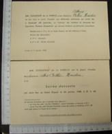 DH. 101. Deux Cartons D'invitation Pour Le Personnel Des Carrières Dumon-Duquesne à Tournai. - Documents Historiques