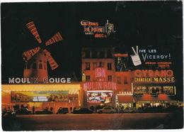 Paris: MG MGA, PIAGGIO APE, CITROËN DS, SIMCA ARONDE, 1500, 1000, PEUGEOT 403 - Moulin Rouge - Toerisme