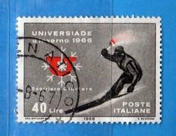 Italia °- 1966 - UNIVERSIADE D'INVERNO 1966.  Unif. 1014.  Vedi Descrizione. - 6. 1946-.. Repubblica