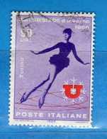 Italia °- 1966 - UNIVERSIADE D'INVERNO 1966.  Unif. 1015.  Vedi Descrizione. - 6. 1946-.. Repubblica