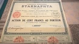 COMPAGNIE PETROLIERE STARNAPHTA (action De Cent Francs)) - Mines