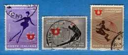 Italia °- 1966 - UNIVERSIADE D'INVERNO 1966.  Unif. 1014 à 1016.  Vedi Descrizione. - 6. 1946-.. Repubblica