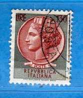 Italia °- 1966 - SIRACUSANA Lire 130.  Unif. 1018.  Vedi Descrizione. - 6. 1946-.. Repubblica