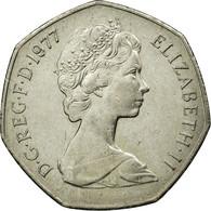 Monnaie, Grande-Bretagne, Elizabeth II, 50 New Pence, 1977, SUP, Copper-nickel - 1971-… : Monnaies Décimales