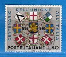 Italia °- 1966 - Unione Del Veneto E Mantovano All'Italia.  Unif. 1019.  Vedi Descrizione. - 6. 1946-.. Repubblica