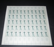 France 1963 Neuf** N° 1401 TABLEAU Le Fifre DE Manet, Croix Rouge  Feuille Complète (full Sheet) - Feuilles Complètes