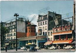 Paris: PEUGEOT 203, 3x 403 & 404 - 'Brasserie Des Touristes' - Le Moulin Rouge - Toerisme