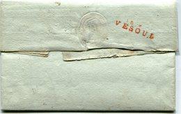 HAUTE SAONE De VESOUL Linéaire Rouge 29x8 En Arrivée Sur LAC De BORDEAUX Pour ST LOUP Du 06/11/1797 - Marcophilie (Lettres)