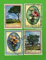 Italia °- 1966 - FLORA.  Unif. 1020 à 1023.  Vedi Descrizione. - 6. 1946-.. Repubblica