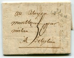 GERS De AUCH LAC Du 16/04/1796 Linéaire 23x9 Taxe De 50 ( Tarif Prohibitif De 6 Mois !!!!!!!!!!!!!!!!!!!!!!!!!!!!!!!!! ) - Marcophilie (Lettres)