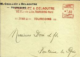 EMA Secap SC 0537 Caulliez Delaoutre Metiers Textiles  1944 Tourcoing A77/26 - Marcophilie (Lettres)